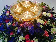 50 GOLD FLOATS & 50 LONG BURNING WICKS FLOATING CANDLE WEDDING TABLE DECORATIONS