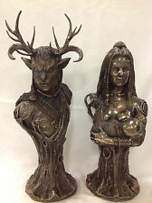 Celta God - Cernunnos & Mother Earth Danu Estatuilla de Estatua Escultura
