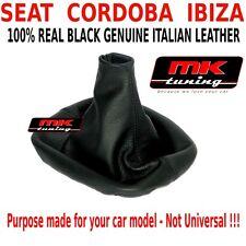 Seat Cordoba Ibiza 2002-08 Genuine Gear Shift Polaina Gaitor Cubierta De Cuero Negro