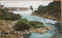1910 Postcard - 'View Below the Falls - Saco, Maine ME'