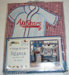 TAB TOP VALANCE sports baseball soccer football Vintage All Star NEW Kidsline