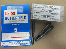 """3 pcs UB UNION BUTTERFIELD 5/16""""-18 NC 3 Flutes APPLIX H3P Spiral Point Taps"""