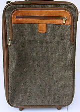 Vintage HARTMANN CARRY-ON TWEED LEATHER ROLLING WHEELED SUITCASE BAG LUGGAGE 22""