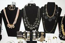 Wholesale 57pc Black & Gold Fashion Jewelry Lot Necklace Bracelets Earrings JV