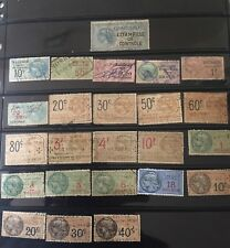 A collection of 24 diff.France Revenue Stamps FRSK 615Z Revenue Effets Used