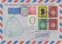 BRD 1956 Eröffnung Flugdienst n Südamerika DÜSSELDORF – BUENOS AIRES - SANTIAGO