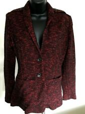 Authentic Burberry Brit Red & Black Cotton Blend Women's Two Button Blazer Sz 6