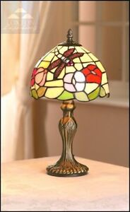 Dragonfly Beige Design Tiffany Stained Glass Table Lamp inc Bulb RM10 PM478T
