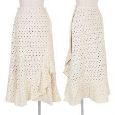 Jocomomola Embroidery Lace Skirt Size 38(K-51643)
