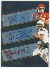 2008 UPPER DECK SPX TRIPLE QB AUTO CARD #/20 SIGNED Philip Rivers Russell Croyle