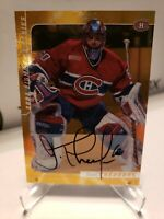 2001 In The Game Be A Player Jose Theodore Gold Auto signature series Canadiens