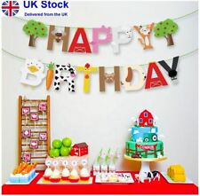 Farm Theme Party Decorations Happy Birthday Banner
