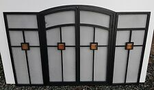 Gorgeous Mission Fire Screen Folding Large Black  Fire Spark guard with doors