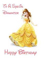 Disney Inspired Belle Personalised Hand Made Printed Card