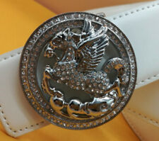 Pegasus Women's Belt Buckle 925 Ss High Quality Round Cubic Zirconia New Round