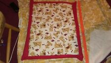 Dog cushion small gr8 for car couch bed and more. 23x28 in flannel and fleece