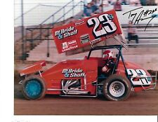 Autographed Tony Armstrong World of Outlaws Sprint Car Auto Racing Photograph