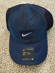 Unisex Men's Women's Nike Aerobill Featherlight Knit Running Hat Dri-FIT Blue OS