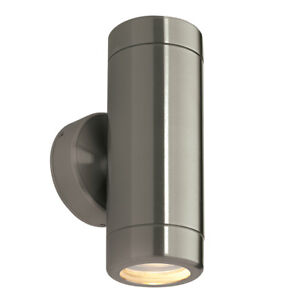 ODYSSEY Outdoor Up & Down GU10 Wall Light - Stainless Steel - Waterproof IP65