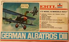 Germany Albatros D-III WWI 1/72 ERTL Airplane Model Kit