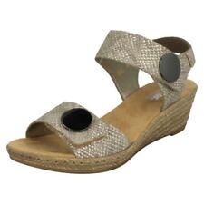 Sandali e scarpe beigi marca Rieker per il mare da donna tacco medio ( 3,9-7 cm )