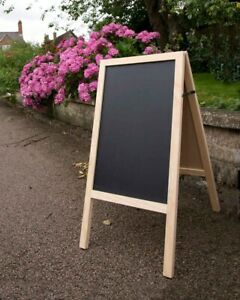 Wooden Chalkboard Easel Sign A Frame Wedding Party Events Natural