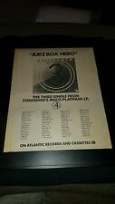 Foreigner Jukebox Hero Rare Original Radio Promo Poster Ad Framed!