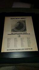 Foreigner Jukebox Hero Rare Original Radio Promo Poster Ad Framed!