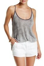 WE THE FREE Mocha Linen Blend Tank Graphite Grey Distressed top, Medium, NWOT
