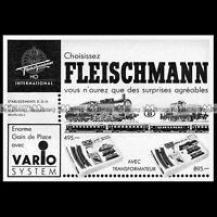 FLEISCHMANN Train Electrique HO Vario System (1966) : Pub / Publicité / Ad #B549