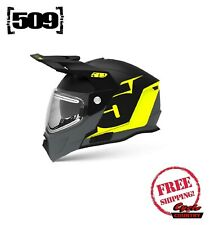509 DELTA R4 IGNITE SNOWMOBILE HELMET LIME GREEN GRAY HEATED SHIELD MODULAR