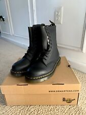 Dr Martens WOMENS Black Leather Boots Mid Calf 10 Eye 1490 Virginia Size US8