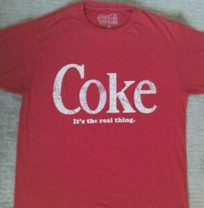 Coke It's The Real Thing Coca Cola Vintage T Shirt_ Size Medium