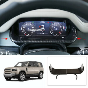 For Land Rover Defender 110 2020-21 ABS carbon inner Dashboard Frame Cover Trim