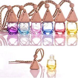 Home Car Hanging Air Freshener Perfume Fragrance Diffuser Empty Glass Bottle Kit