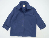 Edinburgh Woollen Mill Womens Size 18 Wool Blend Blue Coat
