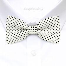 *Brand New* Black & White Small Polka Dot Luxury Tuxedo Boys Bow Tie B025