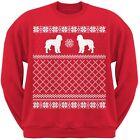Goldendoodle Red Adult Ugly Christmas Sweater Crew Neck Sweatshirt