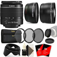 Canon 18-55mm III Camera Lens + Fisheye and Telephoto Lens Attachment + 58mm Kit