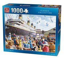 1000 Piece Jigsaw Puzzle Le Titanic Bateau Navire Jeune Fille Voyage Southampton