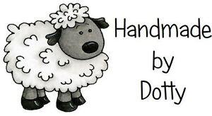 260 Personalised Mini Address labels Handmade etc  - Cute woolly sheep
