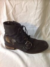 Carvela Black Ankle Leather Boots Size 40