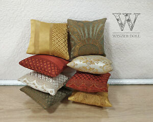 Small size two pillows for dolls 1/6, 1/4 scale, for doll furniture
