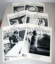 Lot of 6 American Woodworker Magazines 1989 - Beds, Chest of Drawers, Cupboards