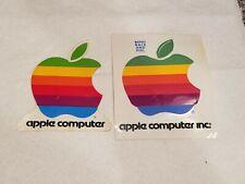 Apple Logo Sticker - vintage multicolor Set Of 2