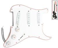NEW PICKGUARD loaded STRATOCASTER - ALNICO V - white - pour guitare STRAT SSS