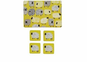 Dotty Sheep Placements & Coasters Set by Ulster Weavers Set of 4