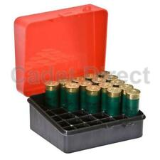 """Plano Shot Shell Box, Holds 12 or 16 Gauge 3.5"""" and 2.75"""" Shells, Red"""