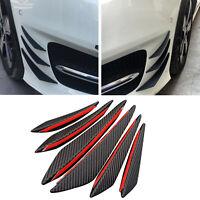 6Pz Universale Spoiler Fibra Carbonio Auto Paraurti Anteriore Canrds Lip Splitte