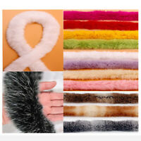 1M Faux Rabbit Hair Ribbon Rabbit Fur Trimming Ribbon Furry Trim Sewing Craft
